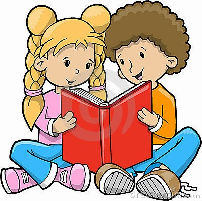 Children Reading Clipart Children Reading Book Vector 9723876 Jpg