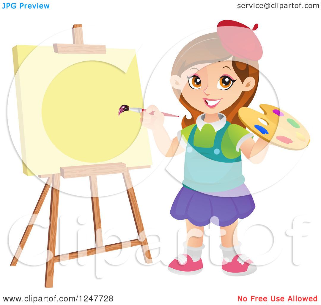 Artist Girl Clipart - Clipart Kid