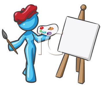 Artist Girl Clipart - Clipart Suggest