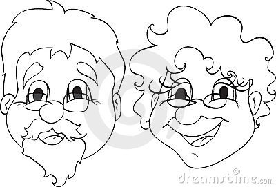 Grandfather Black And White Clipart - Clipart Suggest