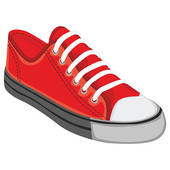Red Tennis Shoes Clipart - Clipart Kid
