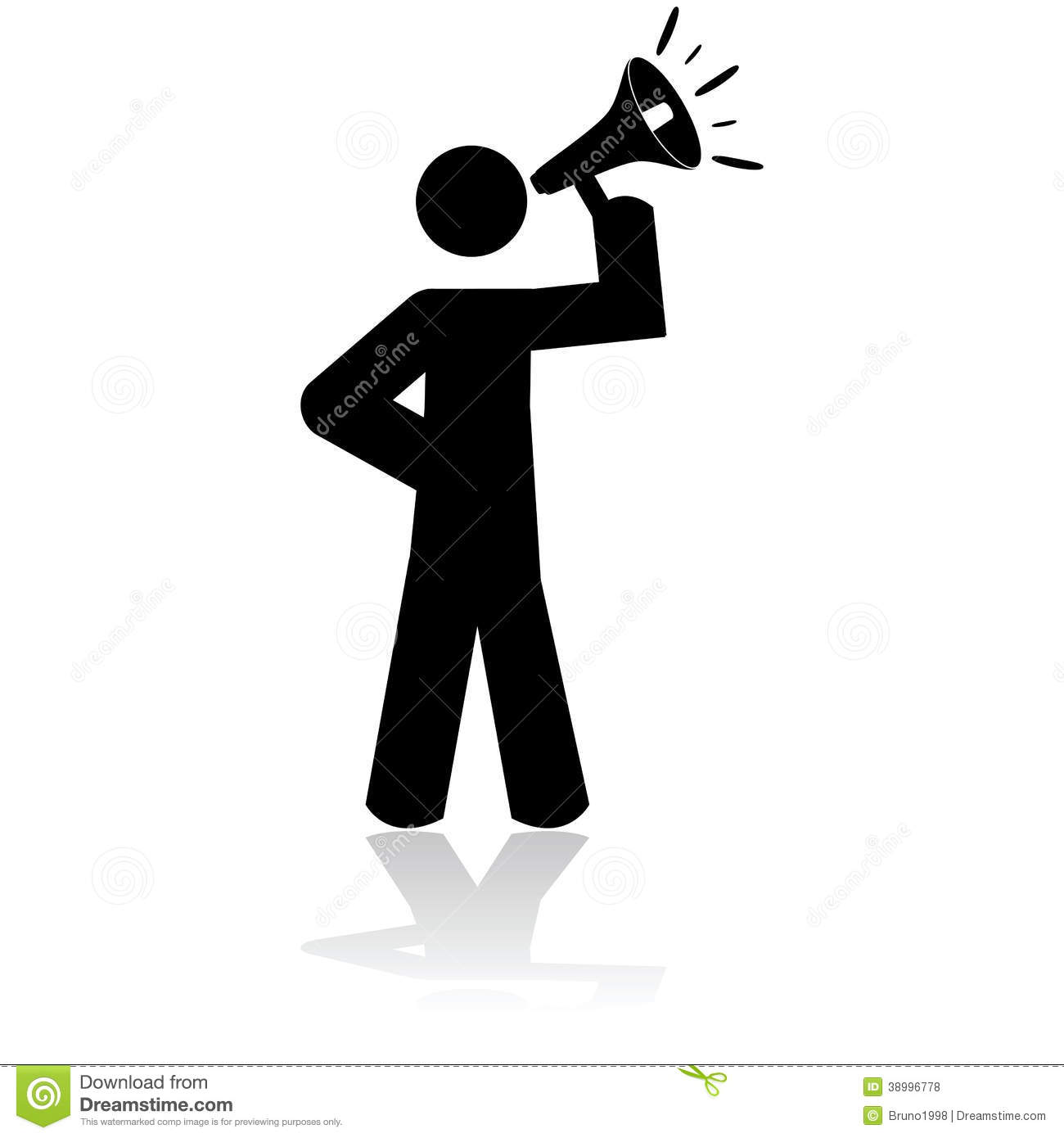 Man With Megaphone Clipart - Clipart Suggest