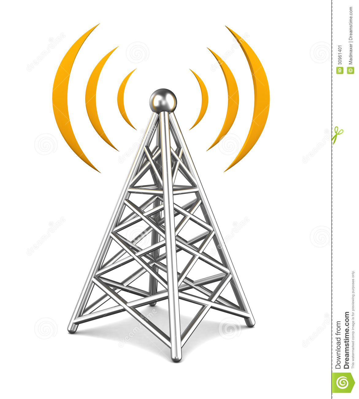 Radio Tower Clip Art Vector Communication Tower