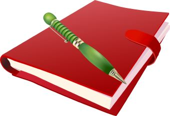 Red Book With Pen Clip Art