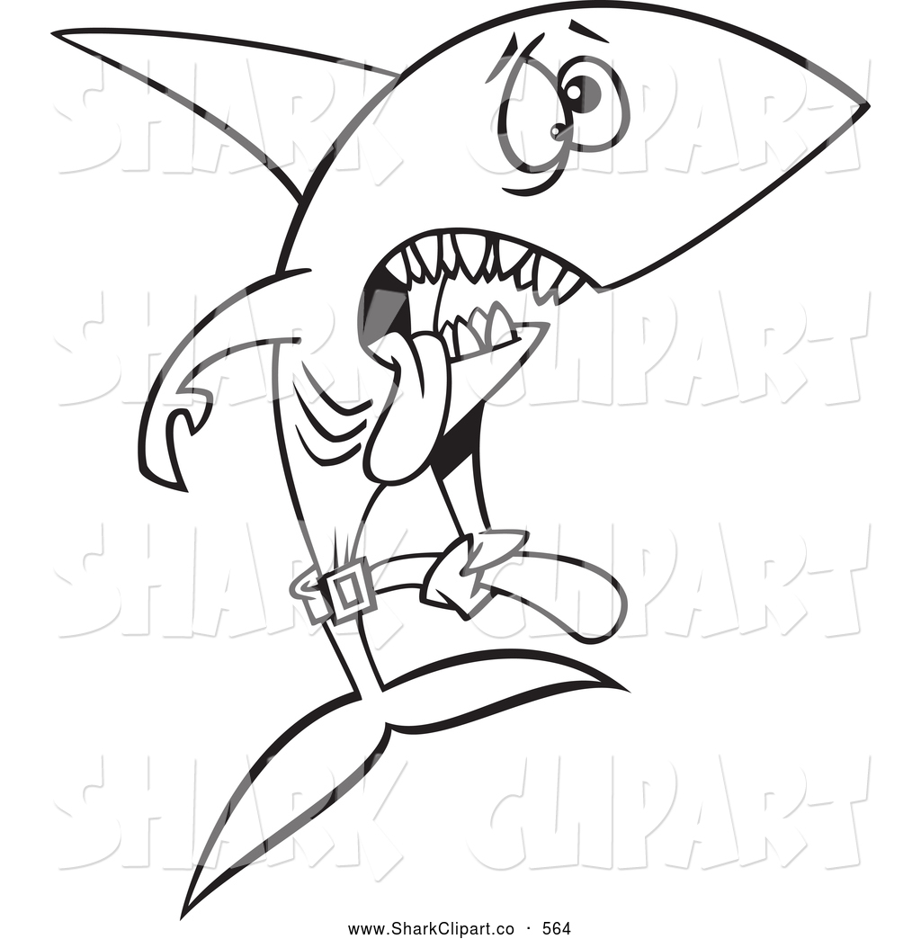 Skinny Starving Shark Searching The Ocean For Food By Ron Leishman