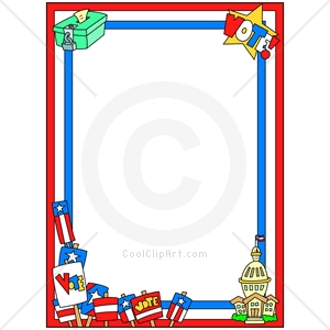 Coolclipart Com   Clip Art For  Borders Election Day   Image Id 131039