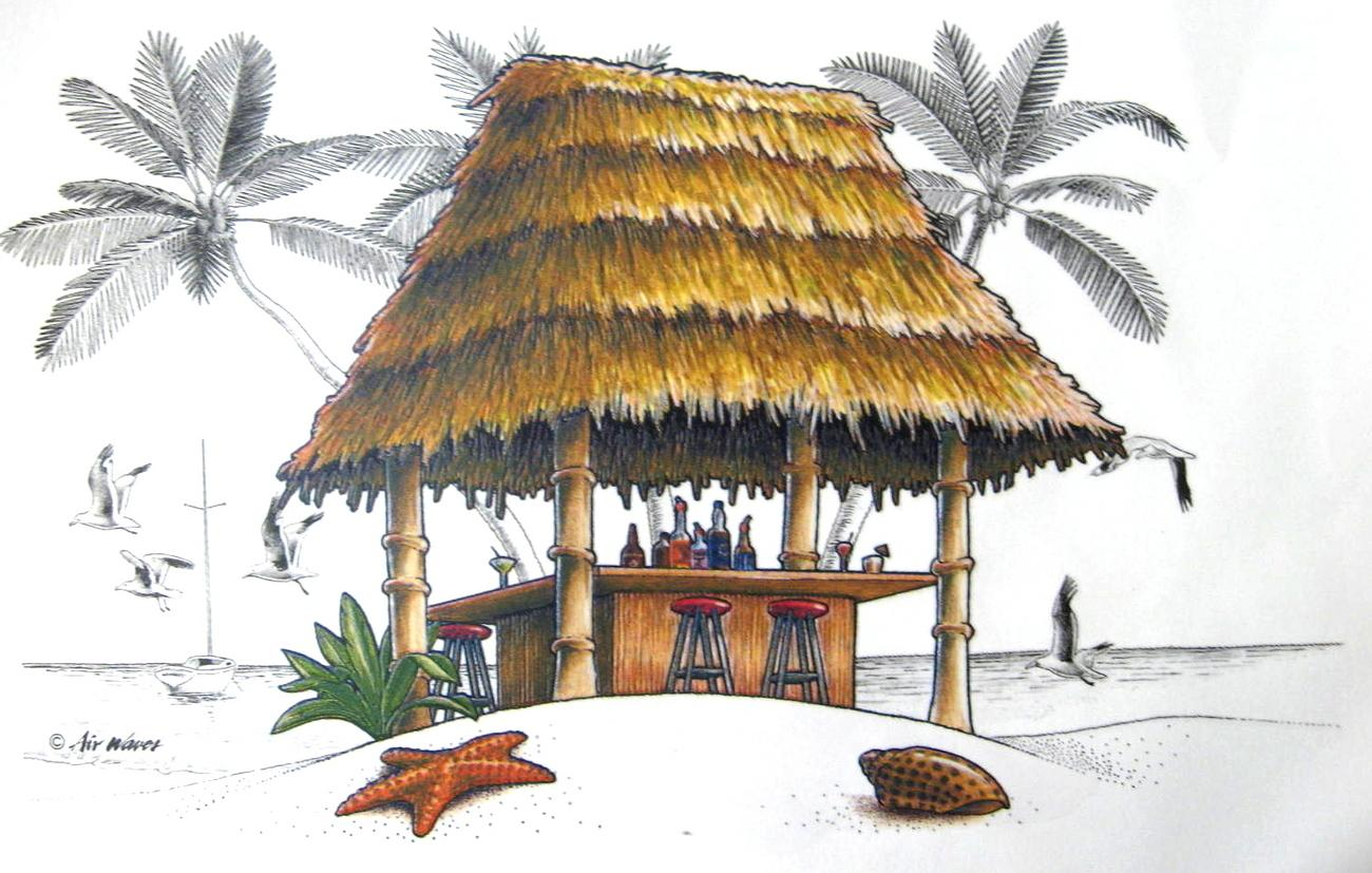 Displaying 20  Images For   Tiki Hut Clipart