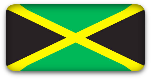 Jamaican Flag Clipart Jpeg Rectangular With Rounded Corners And