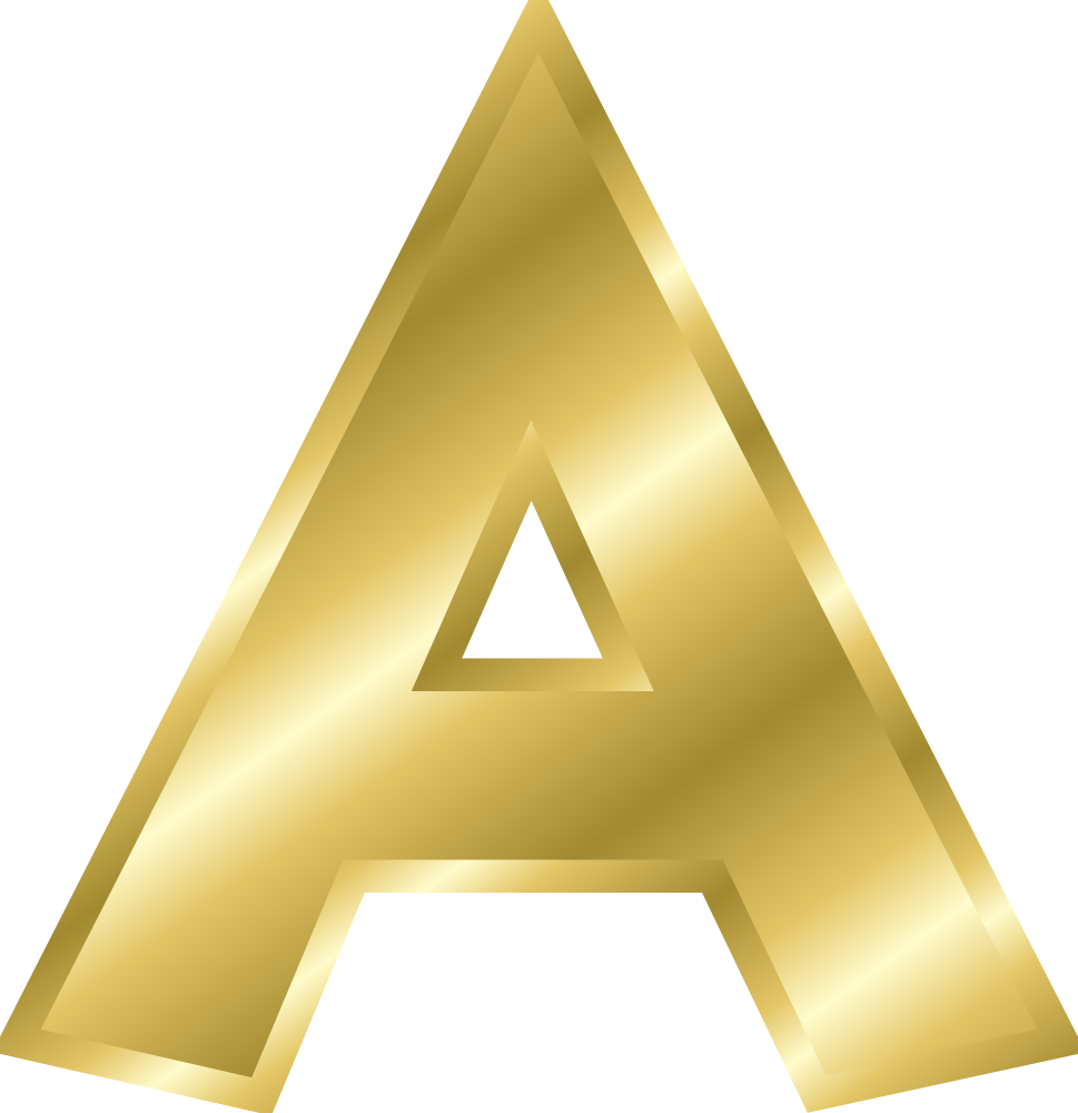Onlinelabels Clip Art   Effect Letters Alphabet Gold