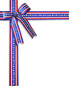 Patriotic Border Stars And Stripes   Royalty Free Clip Art