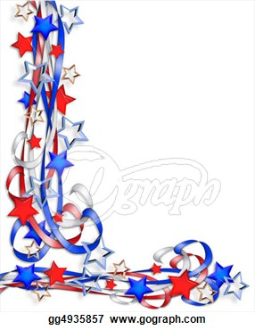 Patriotic Border Stars And Stripes   Stock Clipart Gg4935857   Gograph
