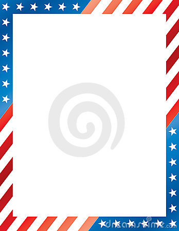 Stars And Stripes Border Photo   Spiderpic Royalty Free Stock Photos