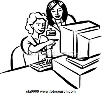 Stock Illustration Of Data Entry B W Ski0009   Search Vector Clipart