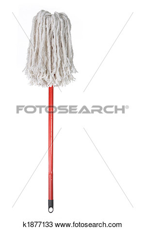 Stock Photo   Large Mop Upside Down Isolated On White  Fotosearch