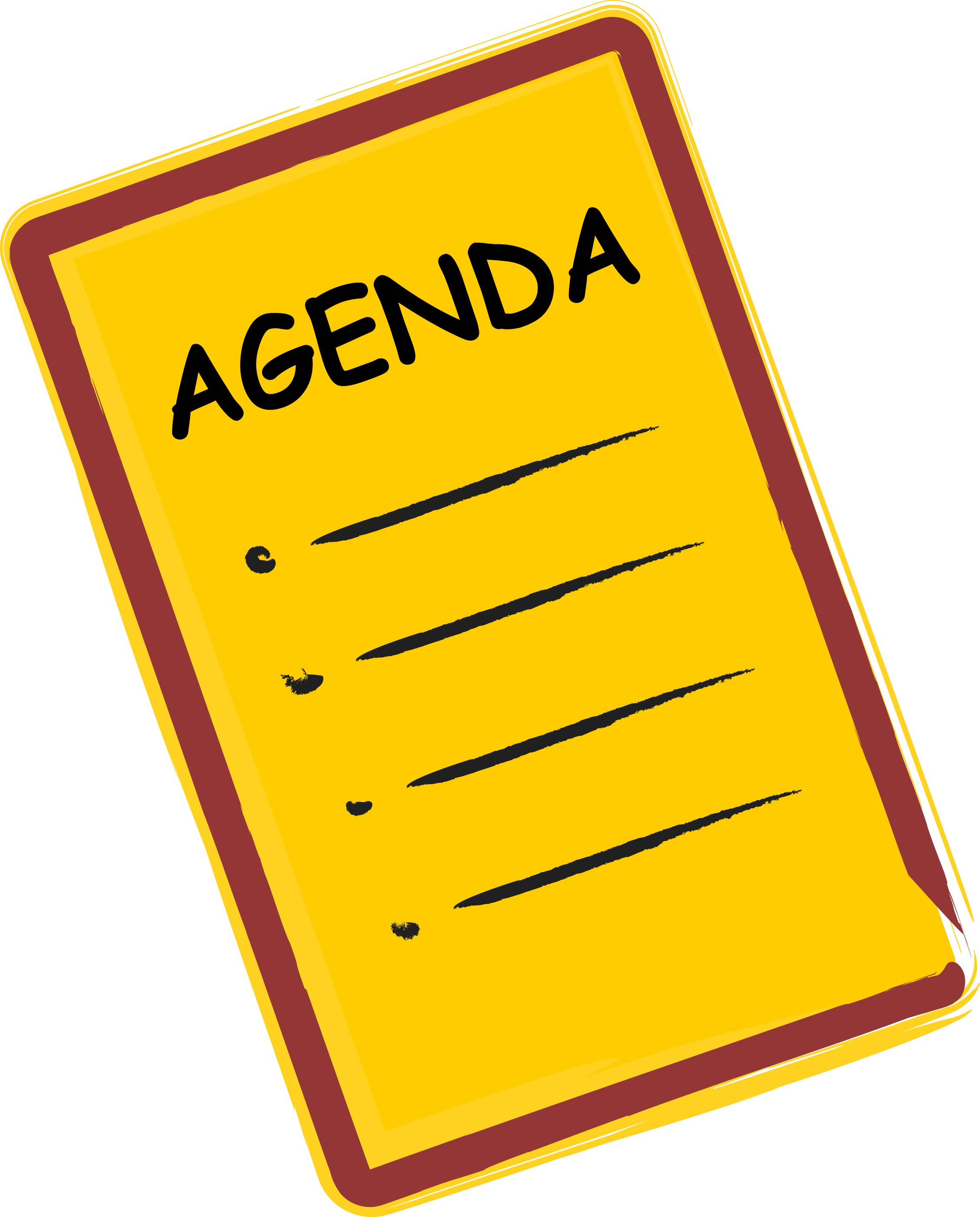 Agenda Clipart - Clipart Kid