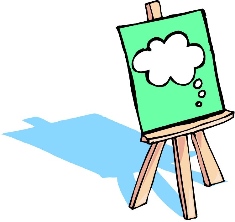 Artist Easel Clipart - Clipart Kid