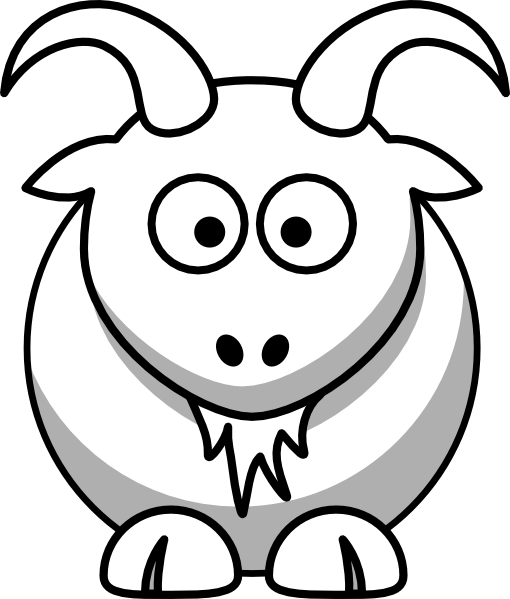 Goat Outline Clipart - Clipart Kid