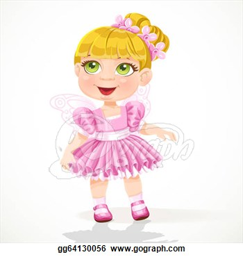 Cartoon Tutu Skirt Clipart Little Girl In A Pink Ballet