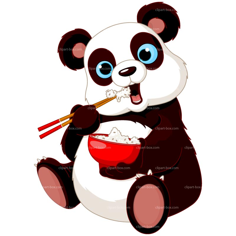Clipart Panda Easting   Royalty Free Vector Design