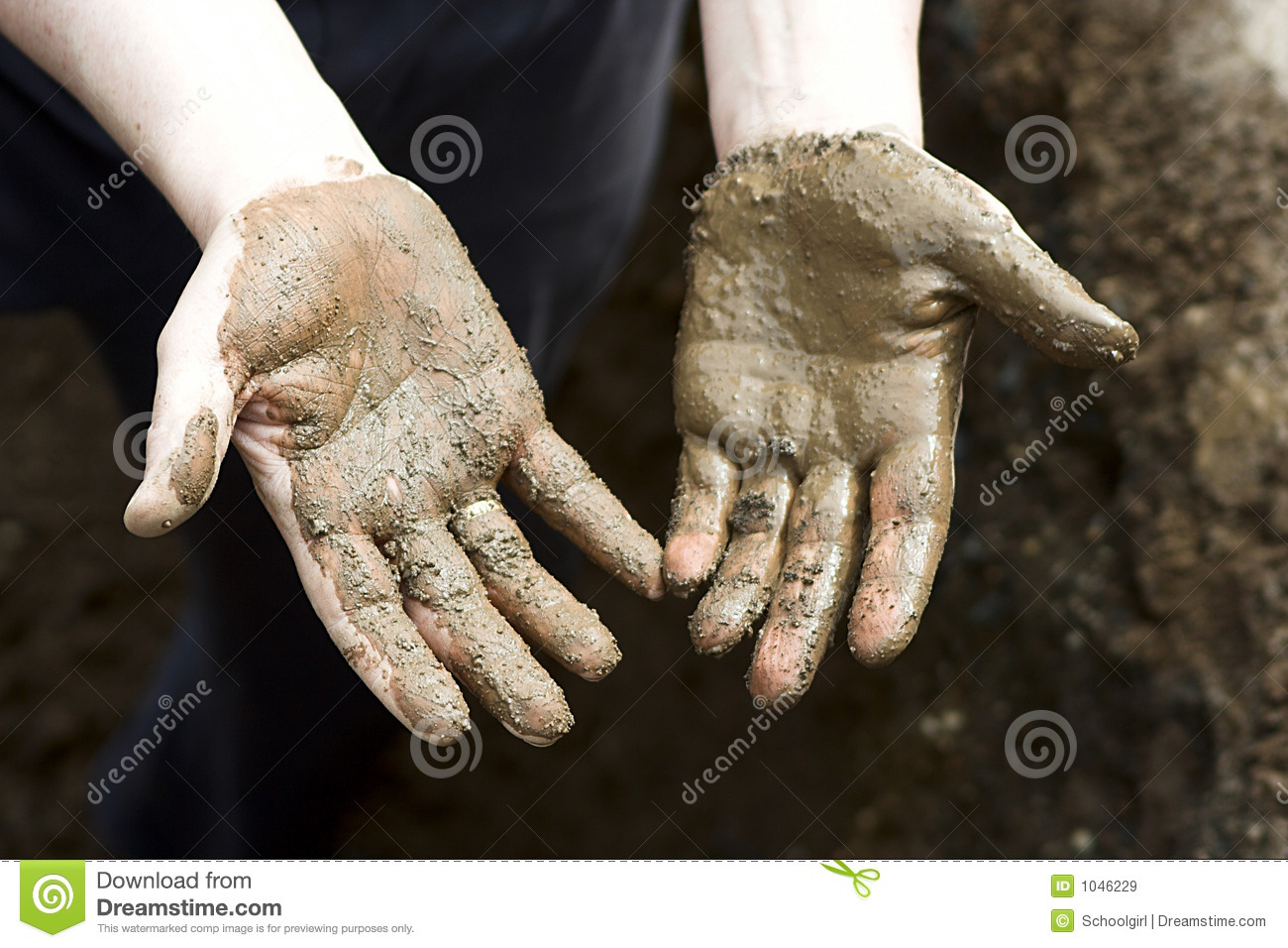 Dirty Hands Royalty Free Stock Images   Image  1046229