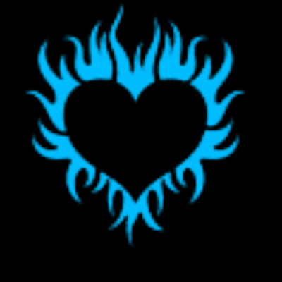 Flaming Heart Clip Art Hearts With Blue Flames