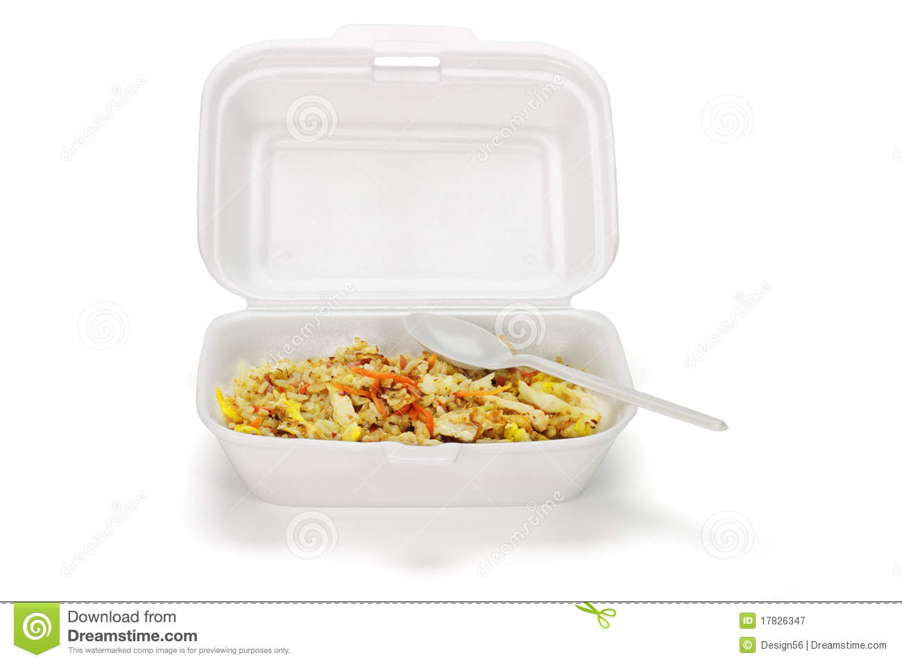 Fried Rice In Styrofoam Box Royalty Free Stock Photography   Image