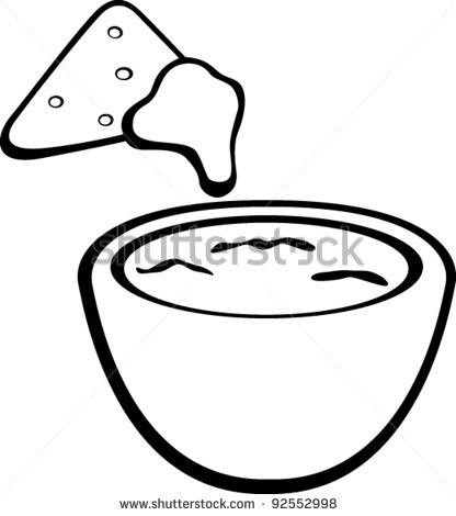 dip coloring pages | Party Chip Dip Clip Art – Cliparts