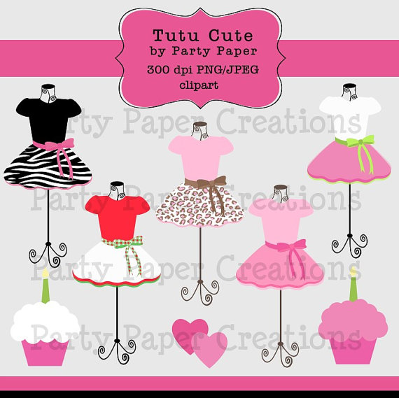 Instant Download Leopard And Zebra Girly Tutu Pettiskirt Dress Form