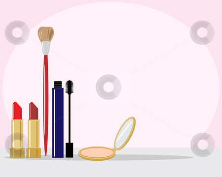Make Up Stock Vector Clipart An Illustration Of A Selaction Of Make
