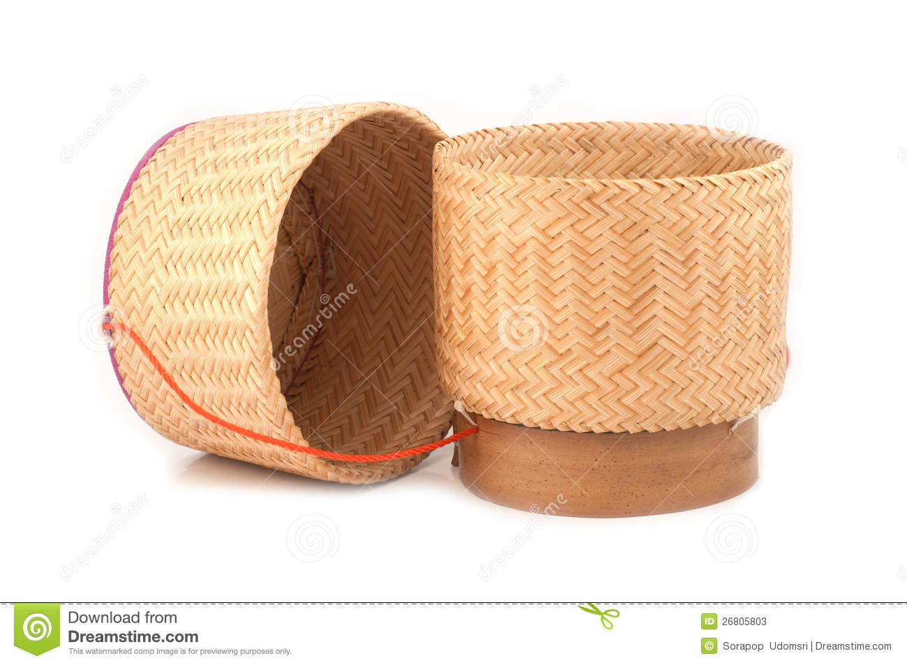 More Similar Stock Images Of   Wooden Rice Box Thai Style