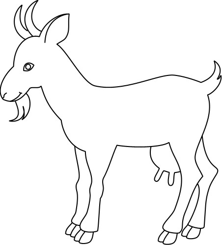 goat outline clipart clipart suggest