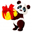 Panda Wildlife Eat Chinese Food Wild Graphic Rice Clipart China Bear