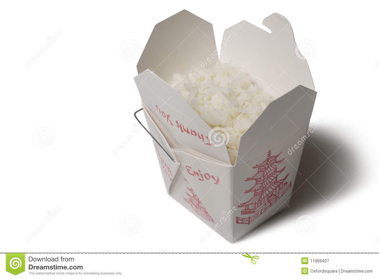 Rice Box Isolated On White