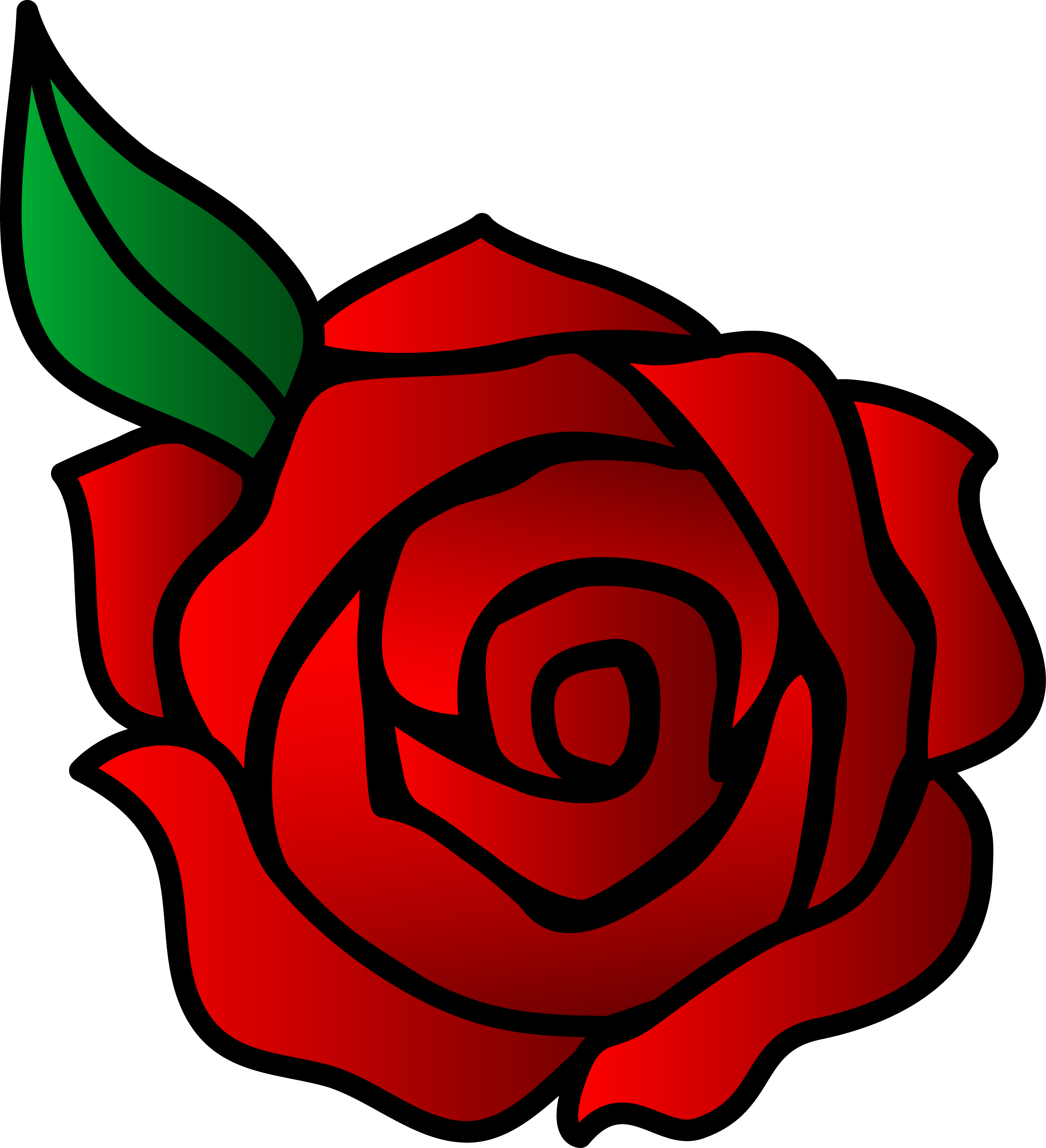 Simple Rose Clipart Clipart Panda Free Clipart Images