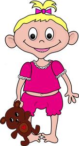 Toddler Girl Clipart - Clipart Kid