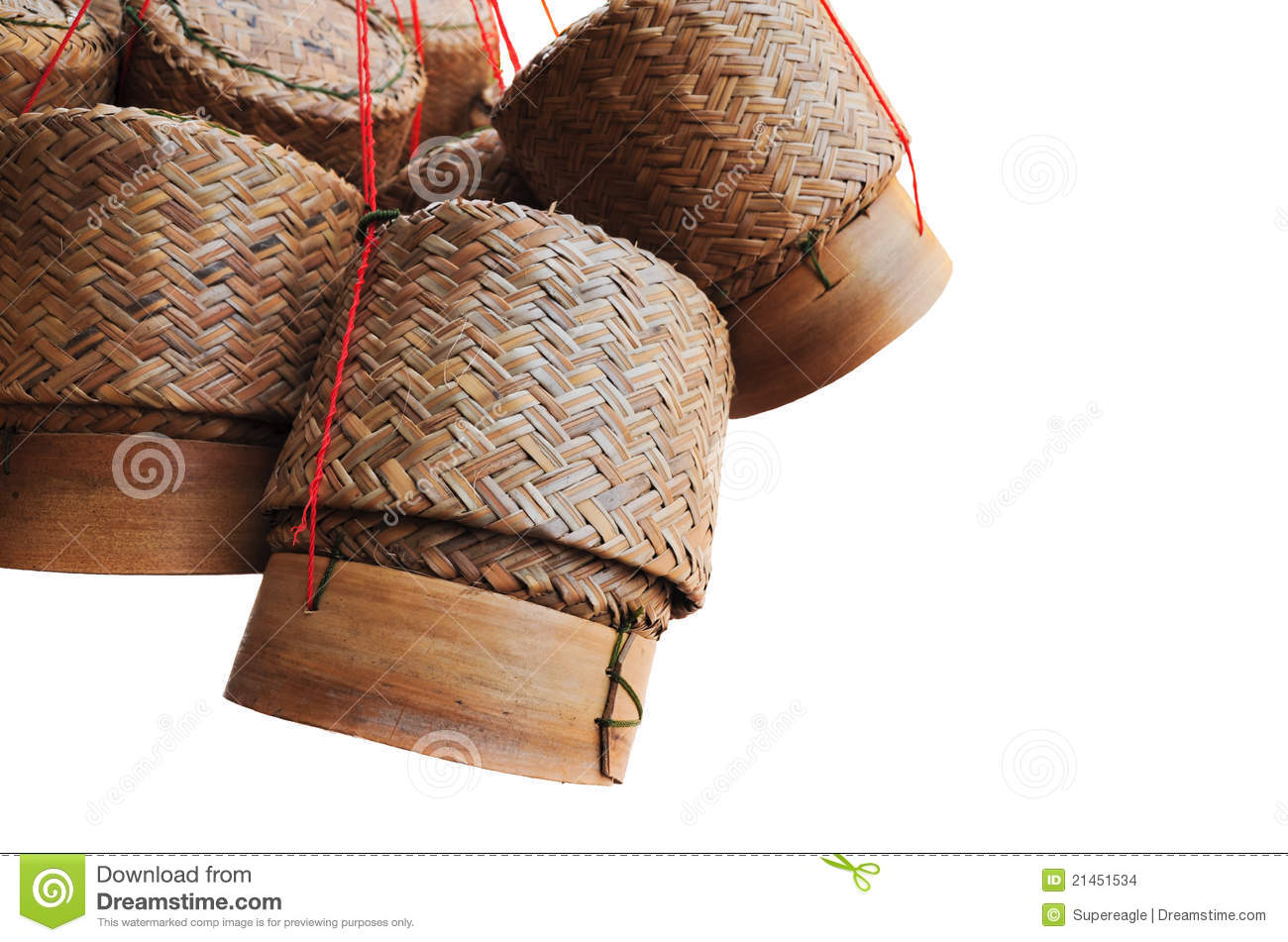 Wooden Rice Box In Thailand Stock Images   Image  21451534