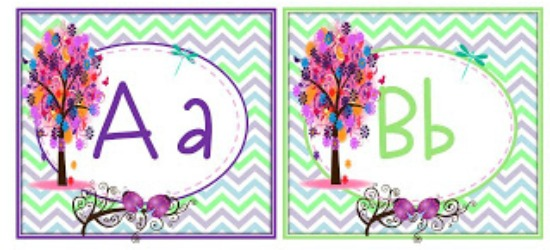 Word Wall Alphabet Cards   Enchanted Forest Word Wall Headers