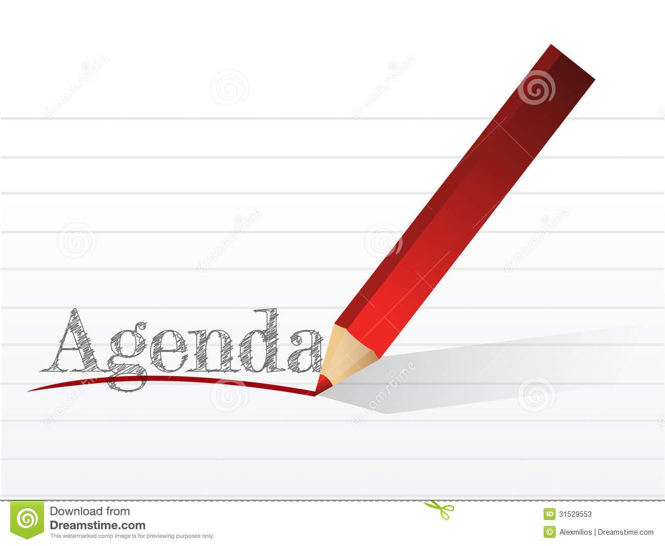 Agenda Clipart Clipart Kid – Agenda Word