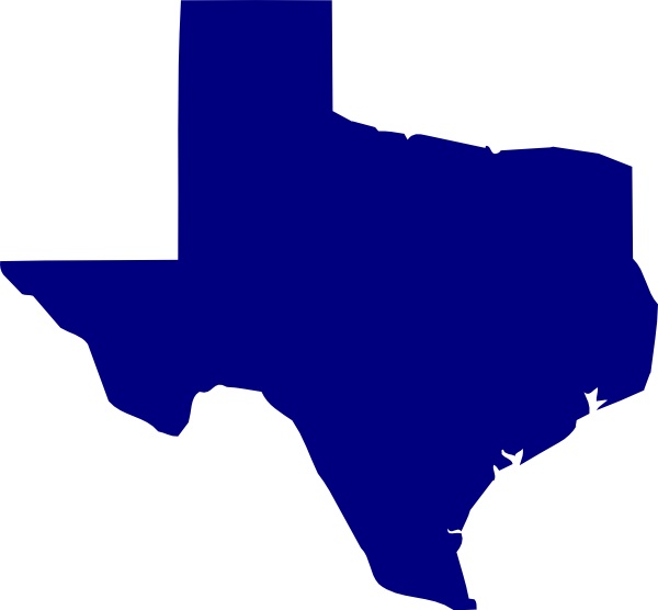 Blue Texas Clip Art At Clker Com   Vector Clip Art Online Royalty