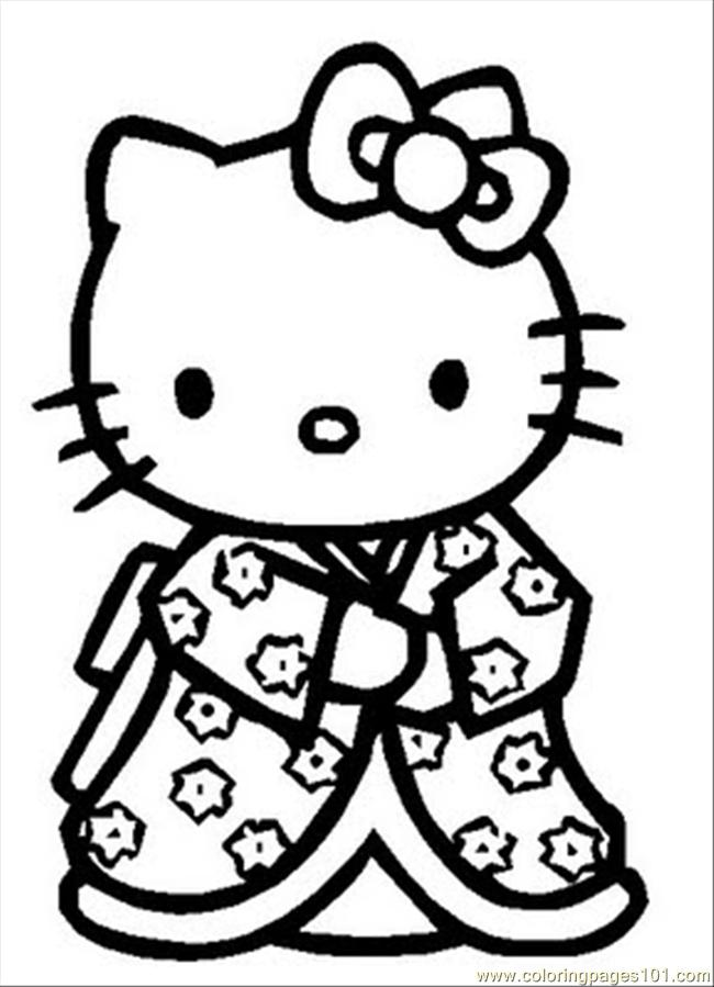Cartoons   Hello Kitty    Free Printable Coloring Page Online