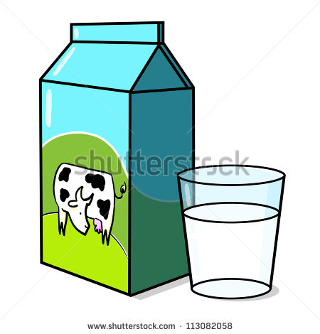 Cow On Milk Carton And A Glass Of Milk Illustration   113082058