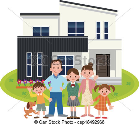 Family Home Clip Art Happy Family And My Home
