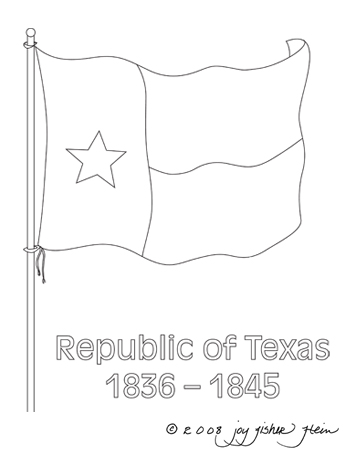 Flag Of The Republic Of Texas  Clip Art Jpeg File 350 X 450 Pixels