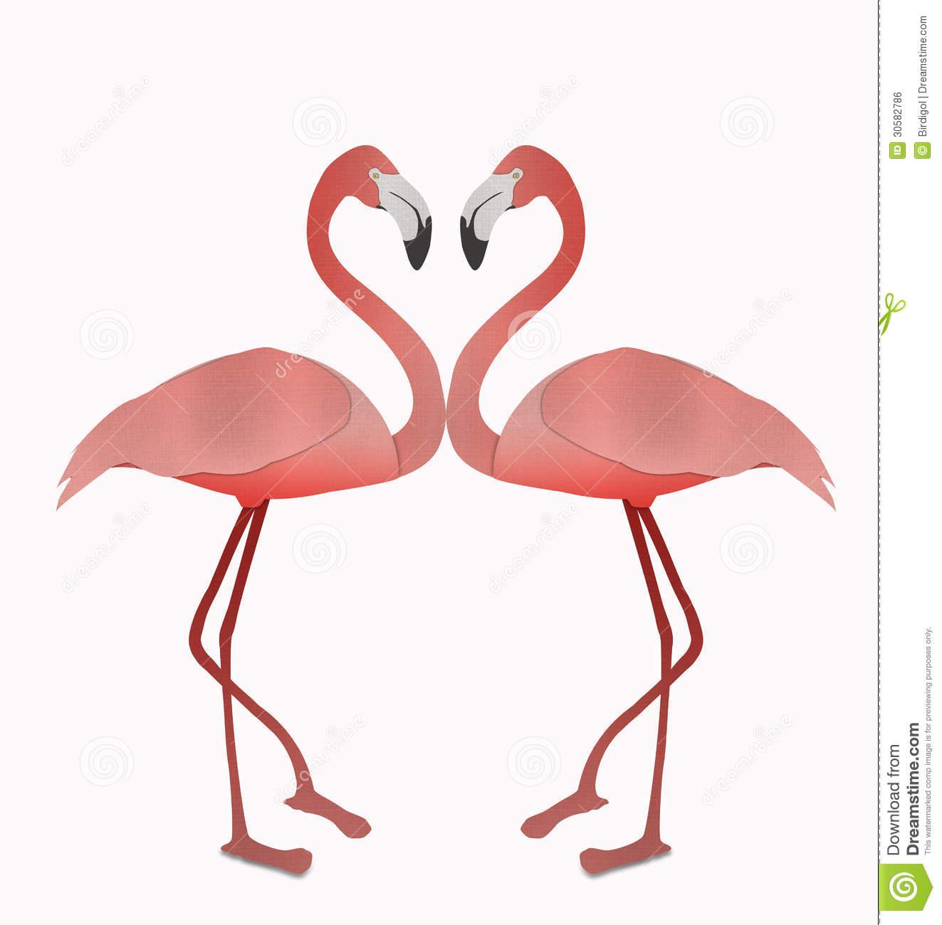 Flamingo Heart Clipart - Clipart Kid