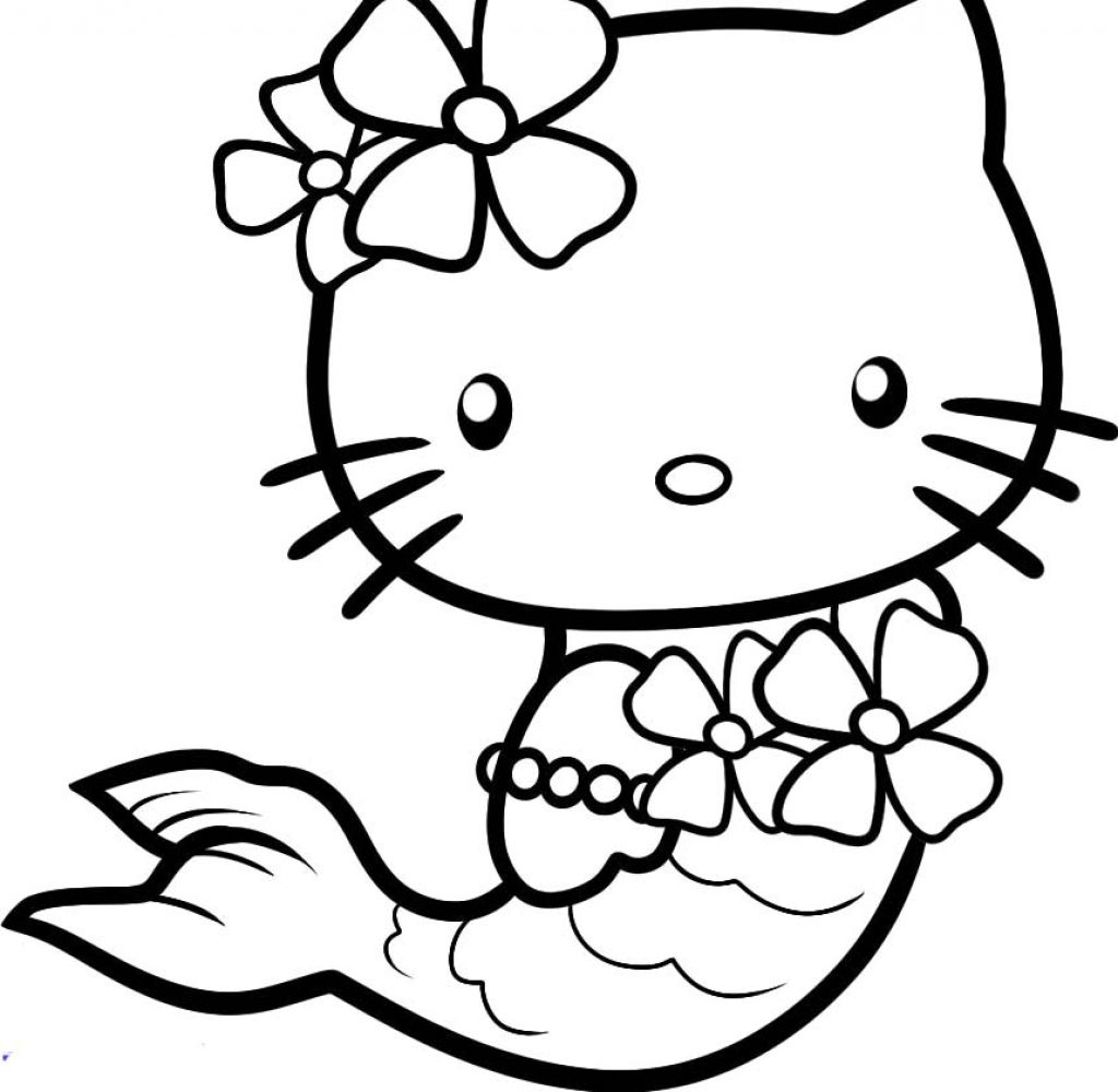 Hello Kitty Coloring Pages Hello Kitty Coloring Pages Mermaid   Kids