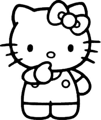 Kitty Drawing Coloring Page Hello Kitty Read A Book Coloring Page