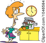 Kids Cleaning The Kitchen Clipart
