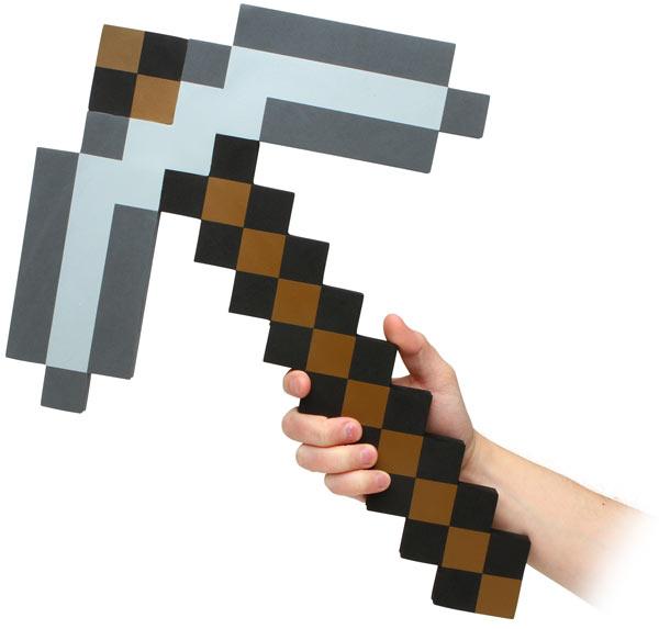 Minecraft Foam Pickaxe   Thinkgeek