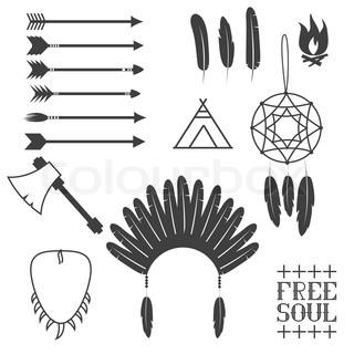 Native American   Vector   Colourbox