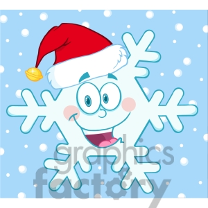 6965 Royalty Free Rf Clipart Illustration Smiling Snowflake Cartoon